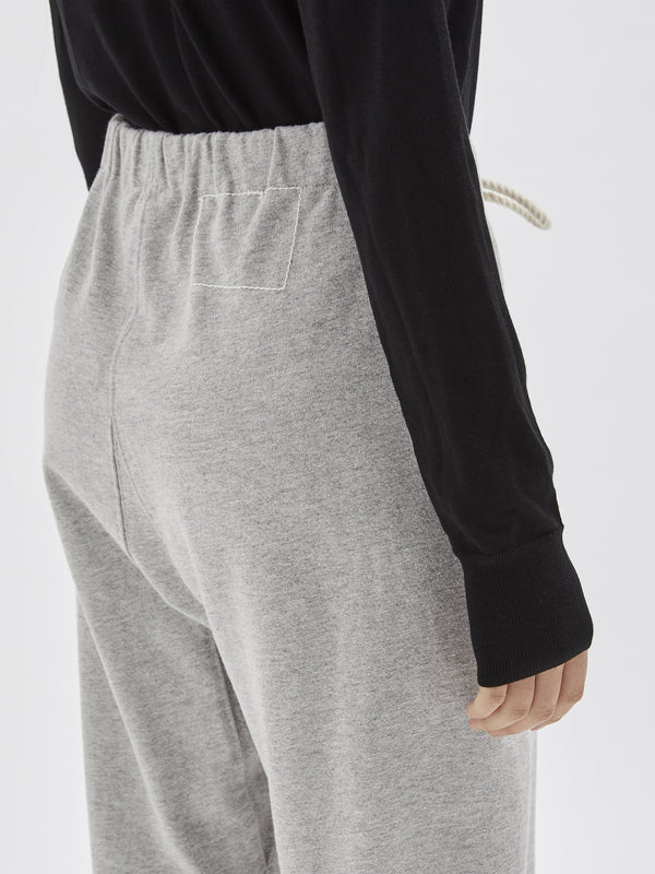 fleece lace up trackpant