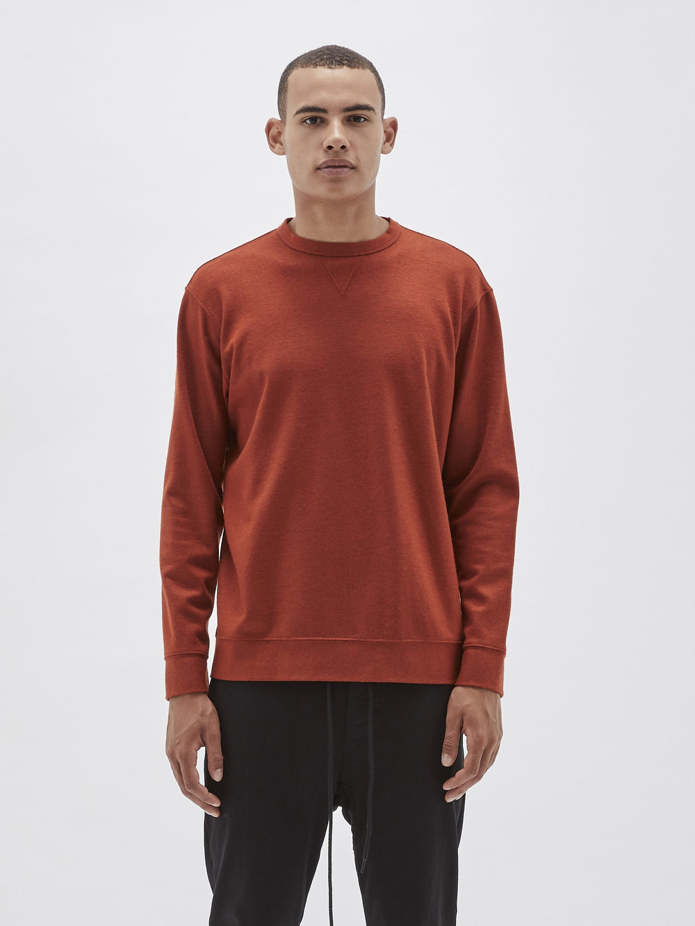 classic wool crew sweat