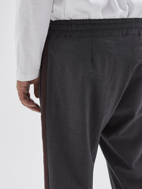 contrast wool tailored pant