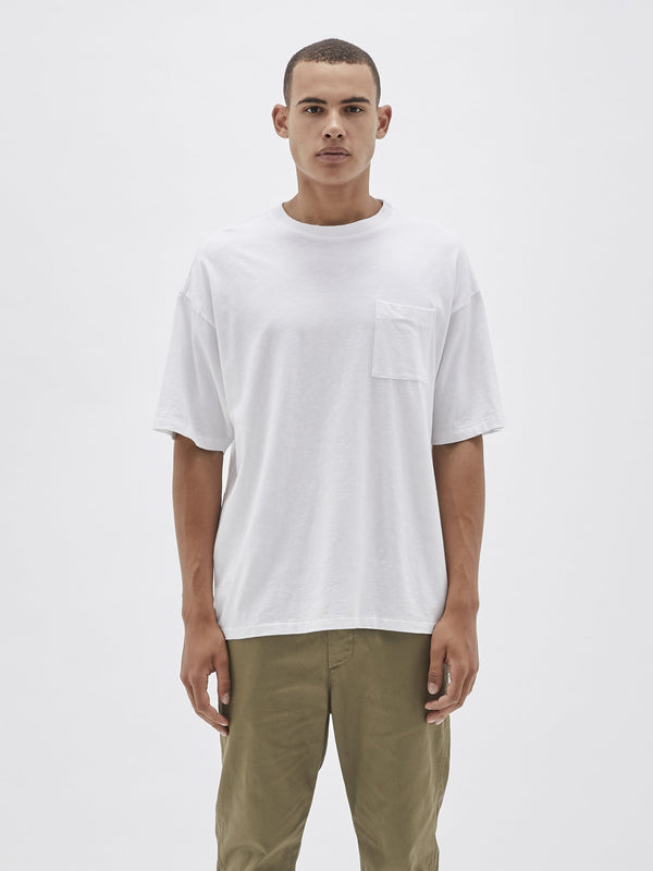 220 slub slouch pocket t.shirt