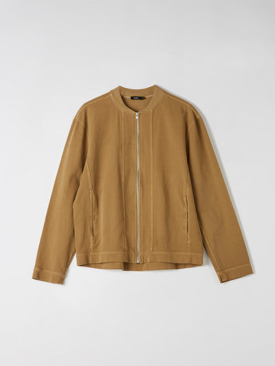 zip through washed jacket