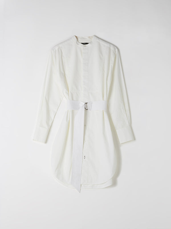 cotton bib front shirt dress