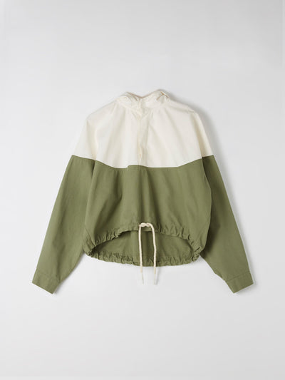 cotton canvas contrast anorak
