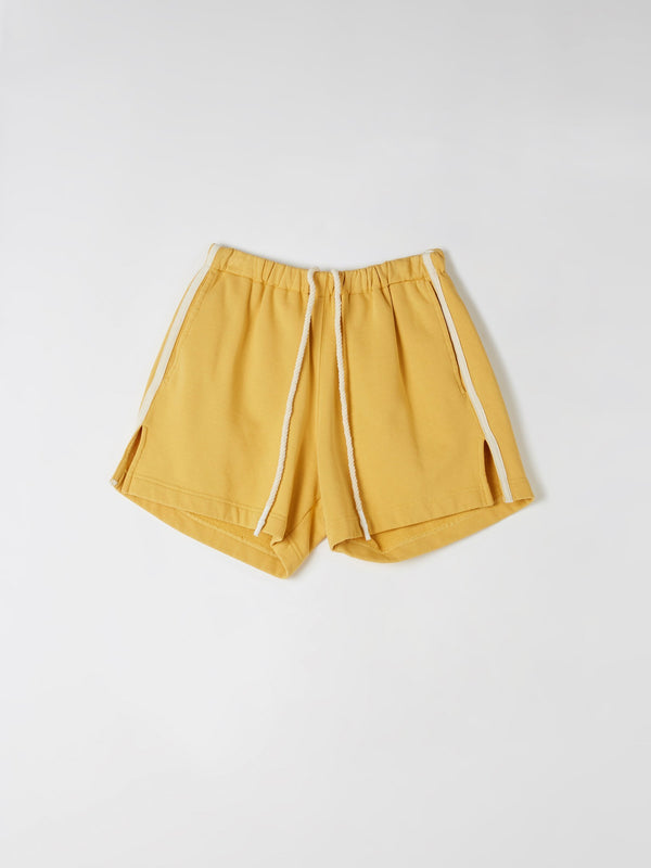 fleece cotton detail short