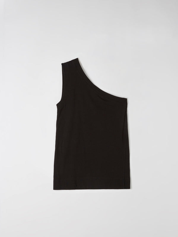 one shoulder wide jersey tank