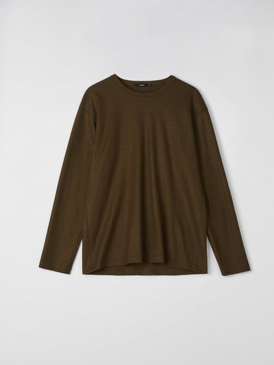 classic wool long sleeve t.shirt