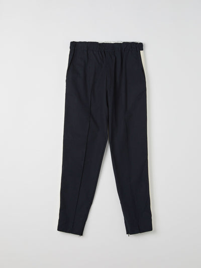 cotton herringbone detail pant