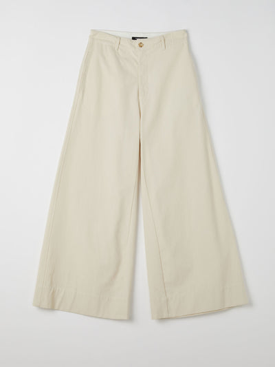 canvas wide leg pant