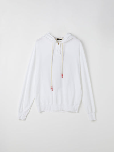 double jersey dot hooded sweat