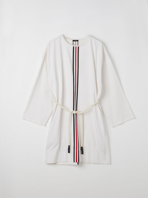 stripe cotton twill kaftan
