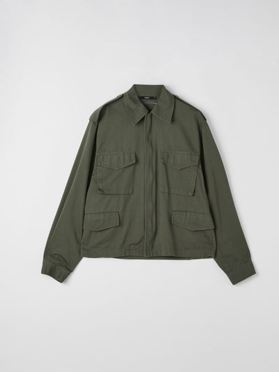 peached twill army jacket