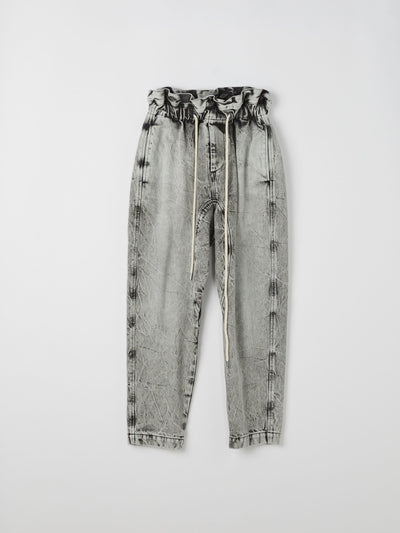 denim paper bag pant