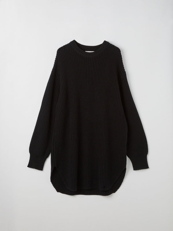 scoop hem relaxed knit