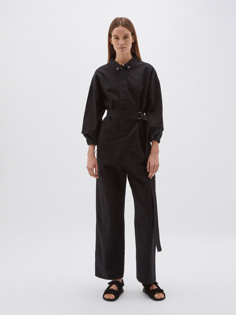 canvas utility jumpsuit