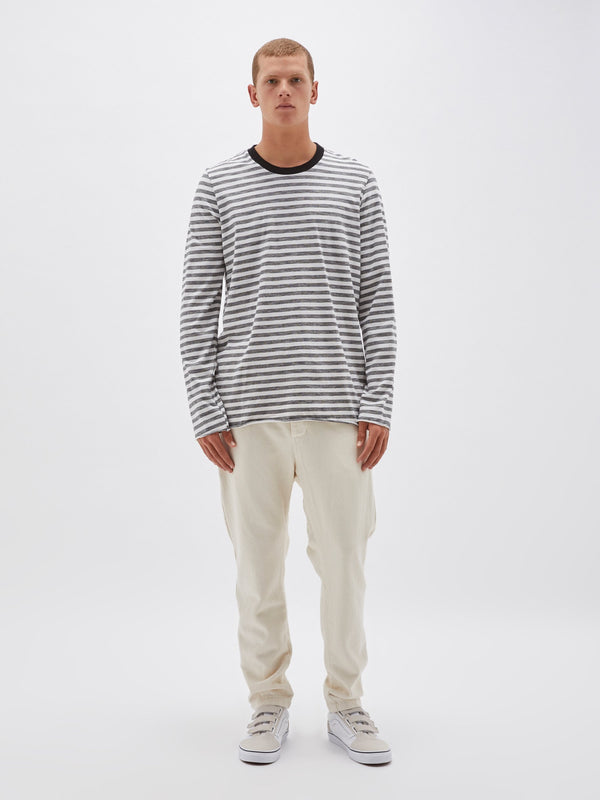 220 slub stripe long sleeve t.shirt
