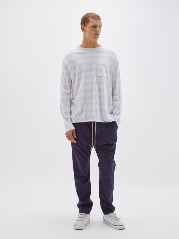 120 stripe long sleeve pocket t.shirt