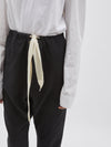 herringbone cotton drawstring pant