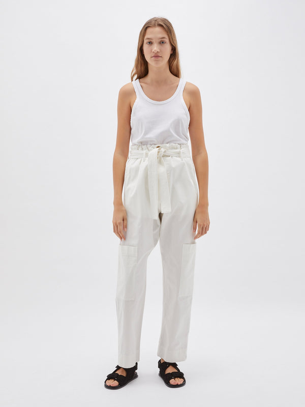 canvas slouch pocket pant