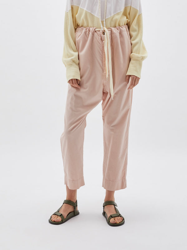slouch cotton drawstring pant