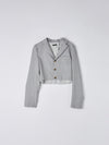 cut off tailored blazer