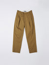 peached cotton pleat pant