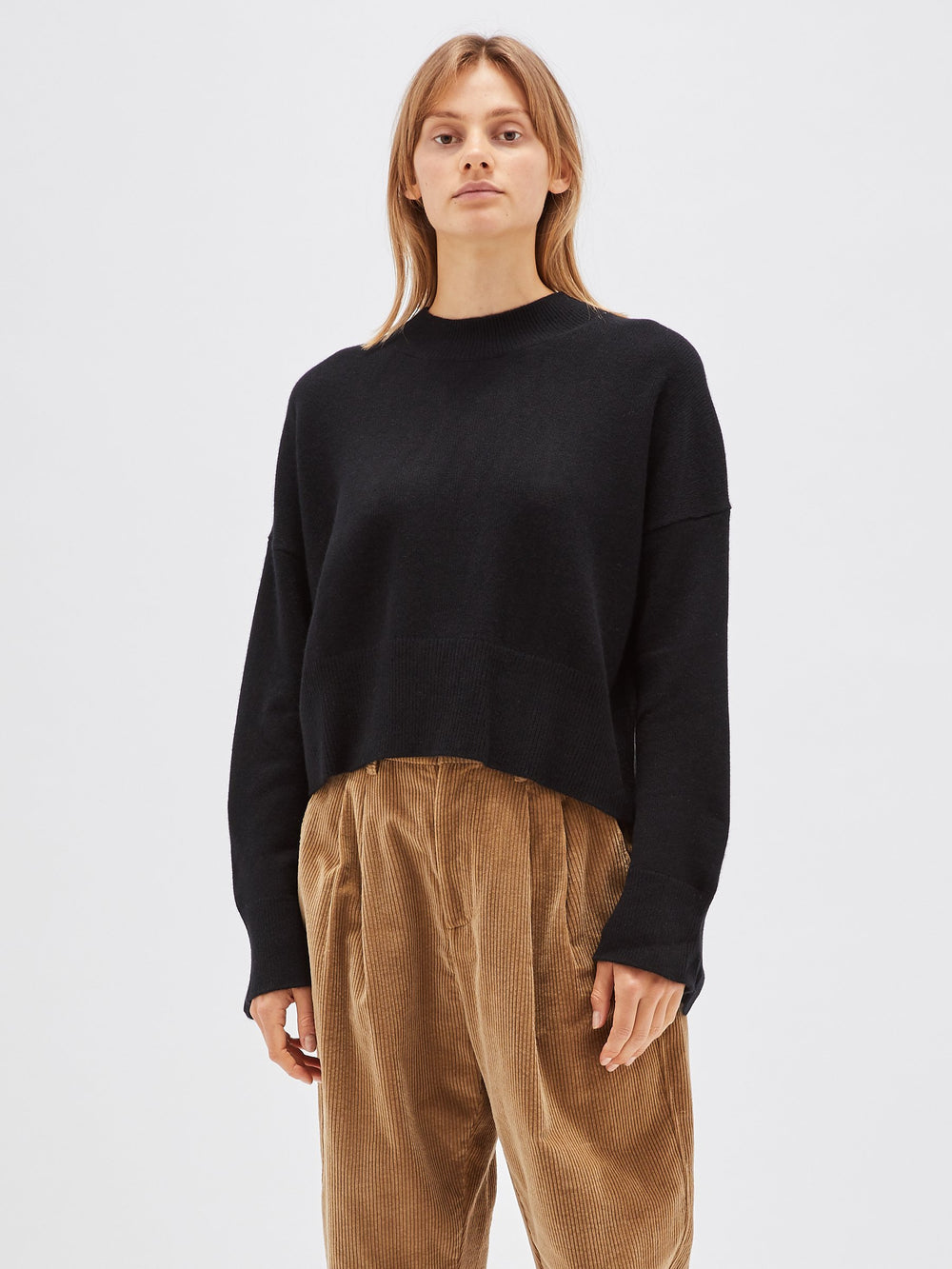 chunky cashmere crew knit