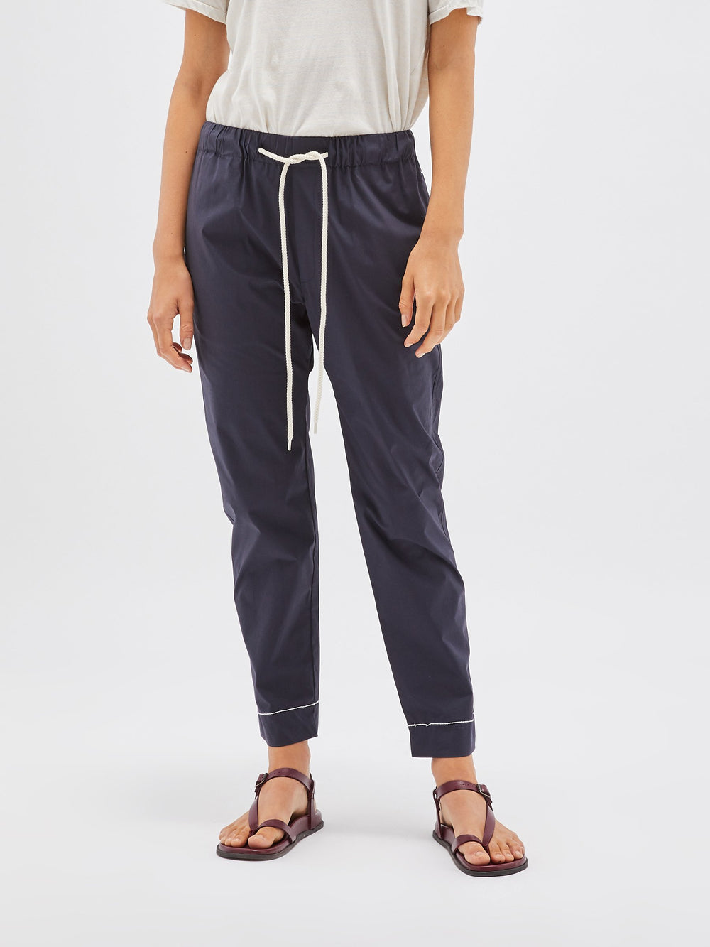 stretch cotton pull on pant