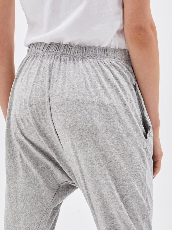 panelled slouch jersey pant