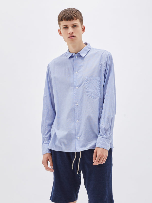 pinstripe relaxed long sleeve shirt