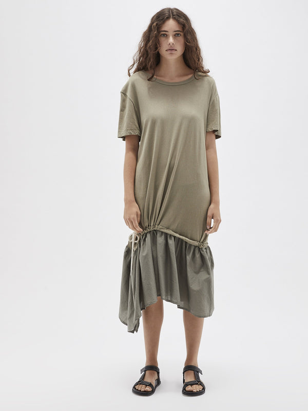 cotton silk t.shirt dress