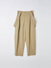 cotton twill pleat pant