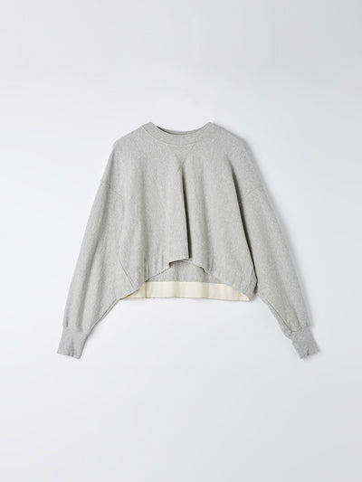 raw cropped fleece sweat
