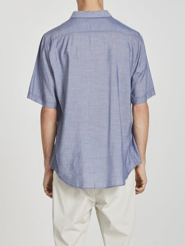 chunky seam short sleeve shirt