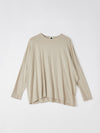 boxy long sleeve t.shirt