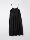 cotton silk gathered slip dress