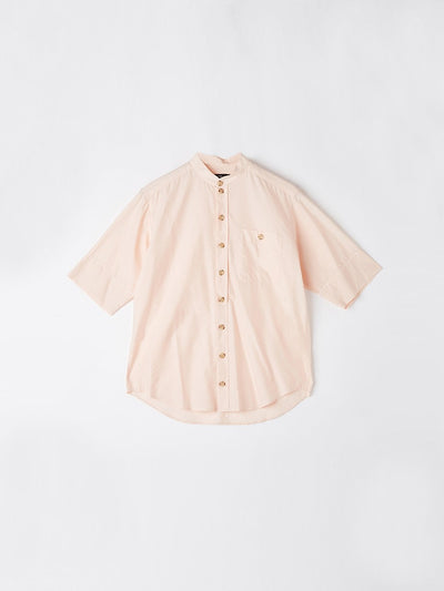 cotton silk short sleeve shirt