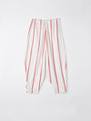 stripe crepe voluminous pant