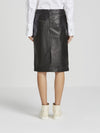 leather drawstring skirt