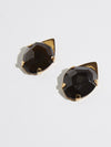 pigna smokey quartz asymmetric earrings