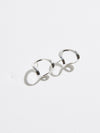 pigna silver arch earrings