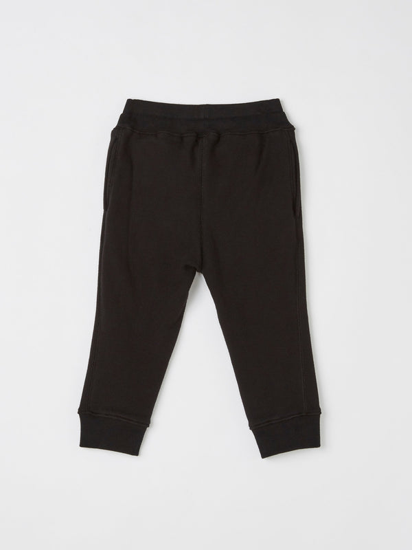 dot print vintage fleece trackpant