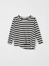 mini stripe french seam long sleeve t.shirt
