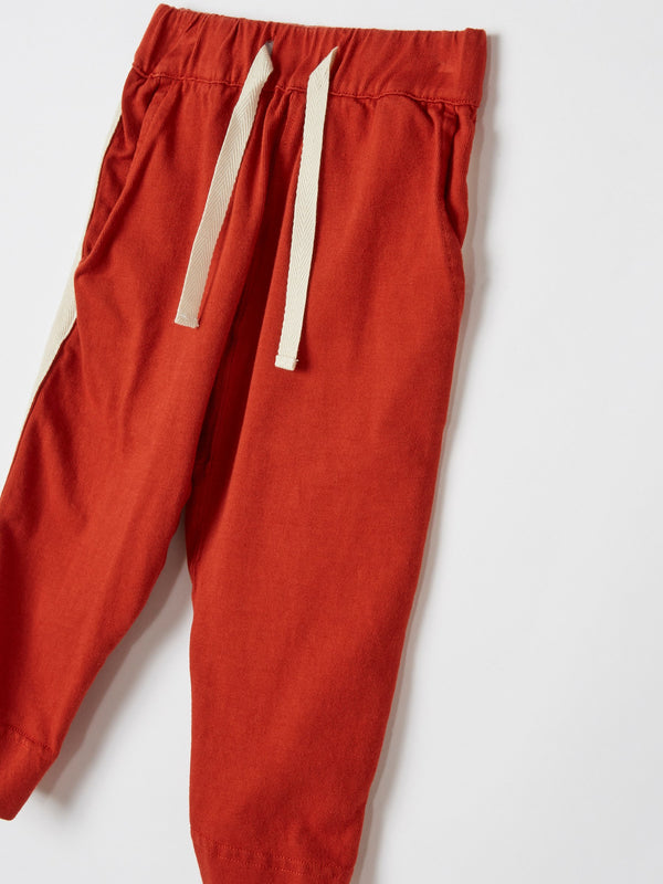mini double jersey side detail trackpant