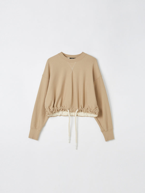 cut off drawstring sweat