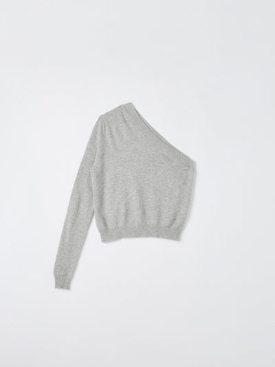 one shoulder cashmere knit