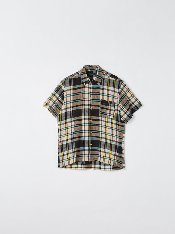vintage check short sleeve shirt