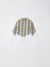 contrast v yoke check shirt