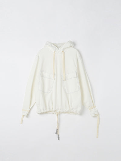 canvas hooded trench