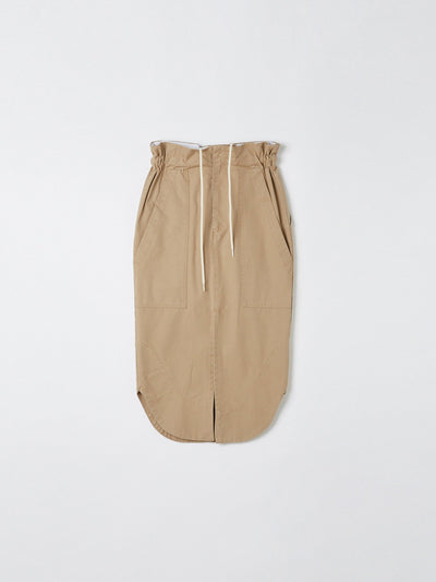 pique canvas workwear skirt