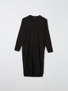 boxy tapered slub long sleeve dress